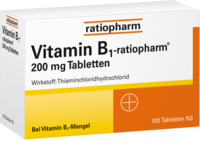 VITAMIN B1 ratiopharm 200 mg Tabletten